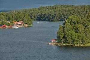 giornata luminosa nell'arcipelago di Stoccolma foto