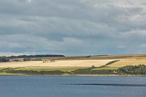 paesaggio marino e il paesaggio di invergordon in scozia uk foto