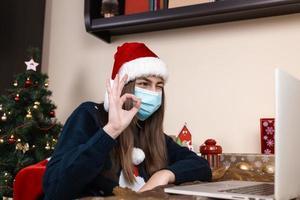 auguri di Natale in linea foto