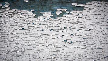 struttura della parete in legno vecchio dipinto di bianco foto