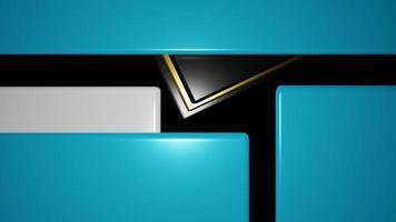 Rendering 3D di sfondo geometrico astratto in blu e nero foto