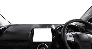 auto con schermo bianco foto
