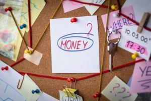 concetto di ricerca di denaro foto