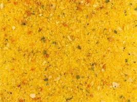 spezie in polvere di curry come sfondo foto