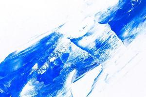 fondo di struttura del colpo del pennello di vernice dell'acquerello blu foto