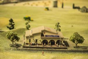 chicago, illinois 2017- miniature al museo della scienza e dell'industria foto
