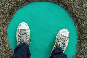scarpe da ginnastica di tela foto