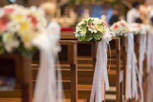 fiore e decorazione di nozze cristiane foto