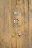 struttura della porta di legno foto
