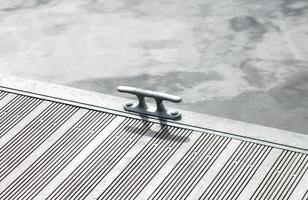 punto di ormeggio in alluminio foto