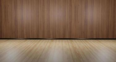 Illustrazione 3D di uno sfondo di pavimento in legno foto