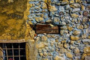 muro di pietra composita foto