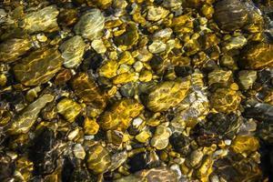 pietre sotto l'acqua foto