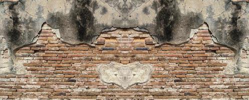vecchio muro di mattoni texture di sfondo foto