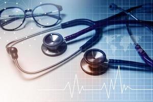 salute e background medico foto
