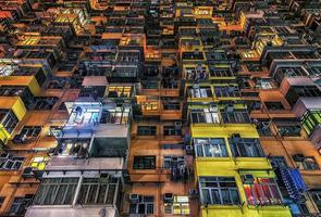 facciata di edificio a hong kong foto