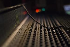 pannello audio del mixer foto