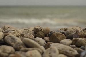 sassi di mare sassi di mare su una spiaggia estiva foto
