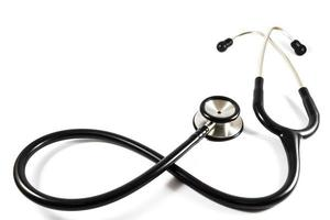stetoscopio nel simbolo dell'infinito isolato foto