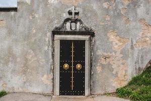 porta con oro foto
