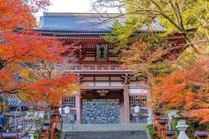kurama dera è un tempio nell'estremo nord di kyoto in giappone foto