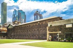 vecchia prigione di Melbourne situata a Melbourne Victoria Australia foto