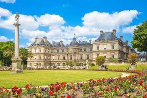 il jardin du luxembourg o il giardino lussemburghese a parigi foto