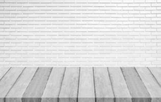 pannelli di legno e struttura del muro di cemento bianco per lo sfondo foto