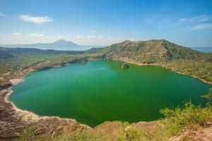 Lago Taal a Batangas vicino a Manila nelle Filippine foto