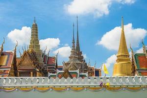 Grand Palace e Wat Phra Kaeo a Bangkok, in Thailandiako foto