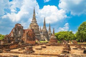 Wat Phra Si Sanphet ad Ayutthaya in Thailandia foto