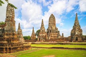 Wat chaiwatthanaram ad ayutthaya in thailandia foto