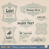 elementi calligrafici di decorazione della pagina foto