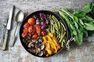 verdure al forno in padella foto