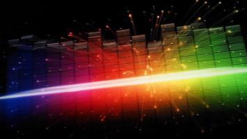 equalizzatore della forma d'onda audio su sfondo nero foto