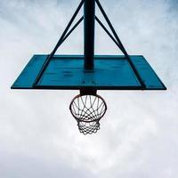attrezzature sportive per canestro da basket di strada foto