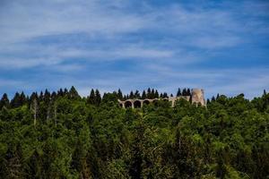 castelfranco veneto tra gli alberi foto