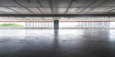 sfondo del parcheggio vuoto foto
