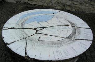 antica mappa del mondo foto