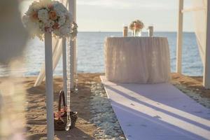 allestimento matrimonio in spiaggia foto