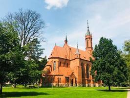 storico st. chiesa di maria a druskininkai. destinazione turistica della lituania. foto