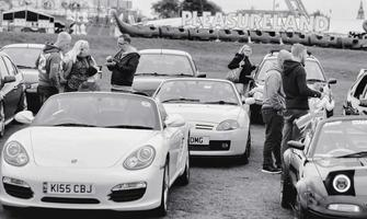 Southport, Inghilterra, Regno Unito, settembre 09, 2017 - foto in bianco e nero del lancashire tradizionale car show