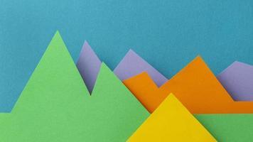 concept grafico con carta colorata foto