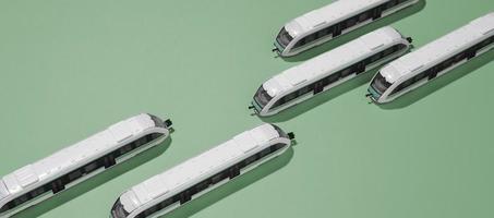 composizione del trasporto pubblico ad alto angolo foto