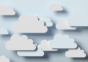Nuvole 3d in giudizio ad aria calda foto
