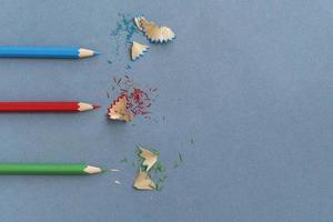 disposizione della natura morta della scuola distesa piatta foto
