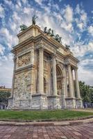 arco della pace a milano, italia foto