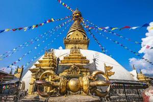 Swayambhunath aka tempio delle scimmie a Kathmandu, Nepal foto