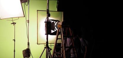 apparecchiature luminose da studio per foto o film.