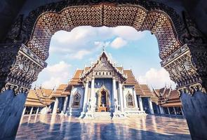 tempio di marmo a bangkok foto